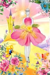 Prinsesse i hage