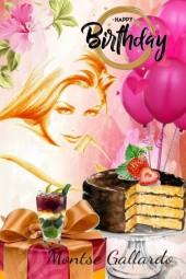 Happy birthday Montse Gallardo