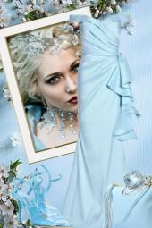 Lys blå kjole