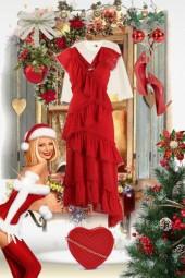 Rød kjole til jul