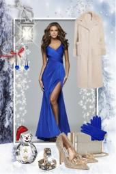 Blue Christmas dress