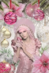Pink Christmas art