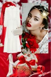 Hvit kjole til jul