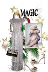 Silver Christmas gown