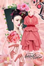 Aprikos kjole