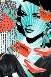 Turkis sort og orange