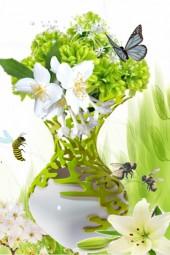 Grønn vase