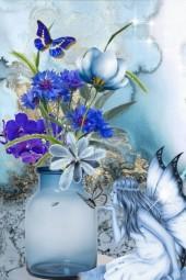 Blomstervase med fe