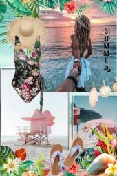 På stranda i juli