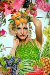 Frukter og blomster
