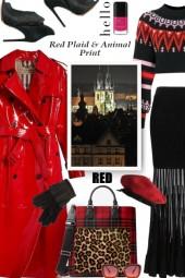 Red Plaid and Animal Print