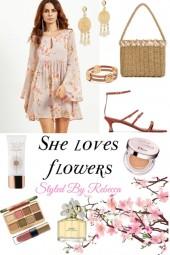 She Loves Flowers -Date Look