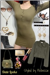 Date Looks In Army Green