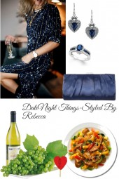 Date Night Things-Dinner Date ,Blue Bling