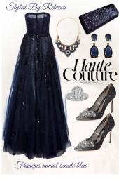 Français minuit beauté bleu
