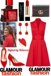 Glamour Fashion Dress Looks In Red