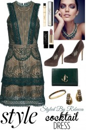 Cocktail Style-Green /w Lace