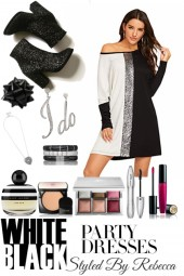 White Black Party Dresses