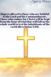 Hope-Revelation 3:10- Religious art