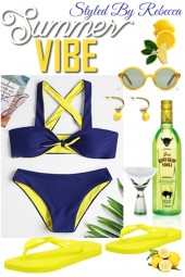 Summer Vibe -Blue and Neon Yellow
