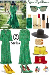 2 Styles -Spring Green Dress