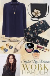 Floral Pants-Spring Work At Home  Style
