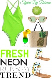 Fresh Neon Swim Looks