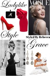 A Woman Has Ladylike Grace and Style