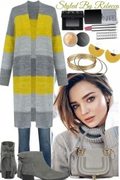Saturday Grey and Yellow Casuals