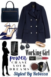 Working Girl -Blue Professional