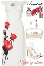 White flower dress for date night