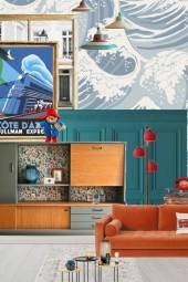 Bold colours in a Paddington style home
