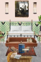 modern deco bedroom