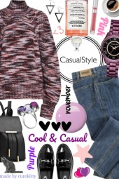 Pink and Purple Loves Cool & Casual Style!