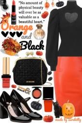 Orange & Black Makes a Beautiful Heart!