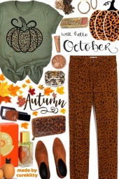 Hello October: Time for Leopard Pumpkin Prints!