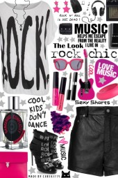 Sexy Summer Shorts: The Look - Rock Chic!