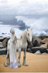 A ride on the beach on a cool November day!