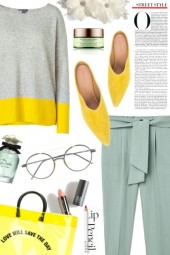 Grey/Yellow/Blue
