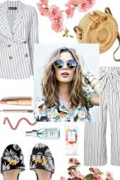 Stripes/Basketbag
