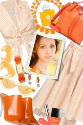 Gingham: Orange