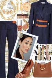 Navy & Tan Suit