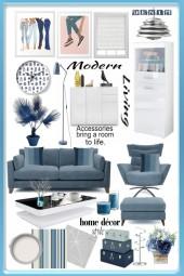 Modern Living:Denim & White
