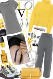 Hello Yellow & Grey