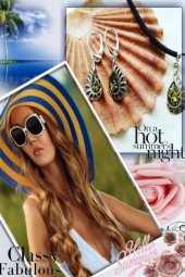 Baltics Green Amber earrings, sterling silver (jew