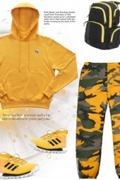 Winter exercise in yellow