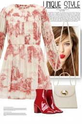 Red Toile Mini