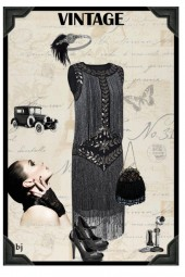 Vintage Inspired--Flapper Dress