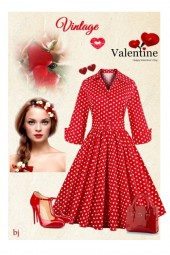Red Vintage Valentine