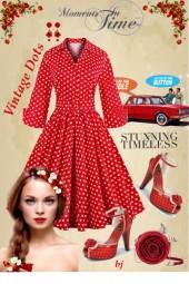 Red Vintage Dots